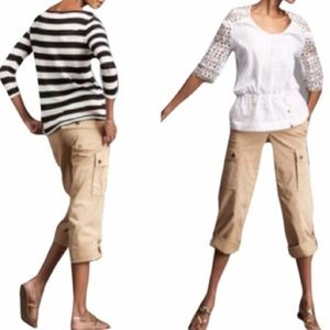 Tory Burch Cropped Cargo Pants Size 28